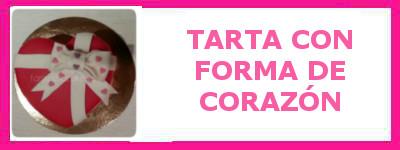 TARTA CON FORMA DE CORAZON