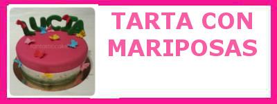 TARTA CON MARIPOSAS