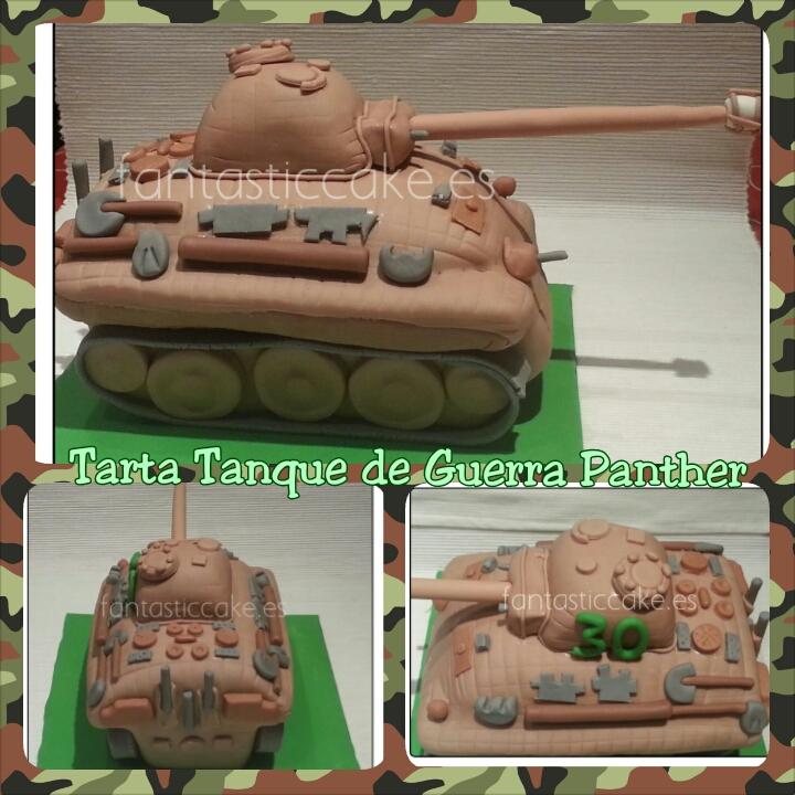 tarta tanque de guerra panther