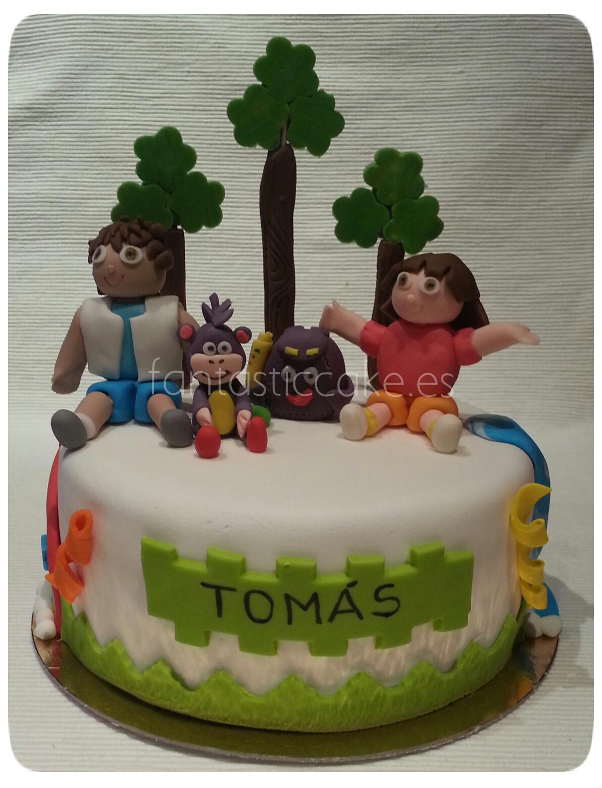 tarta de Dora la exploradora