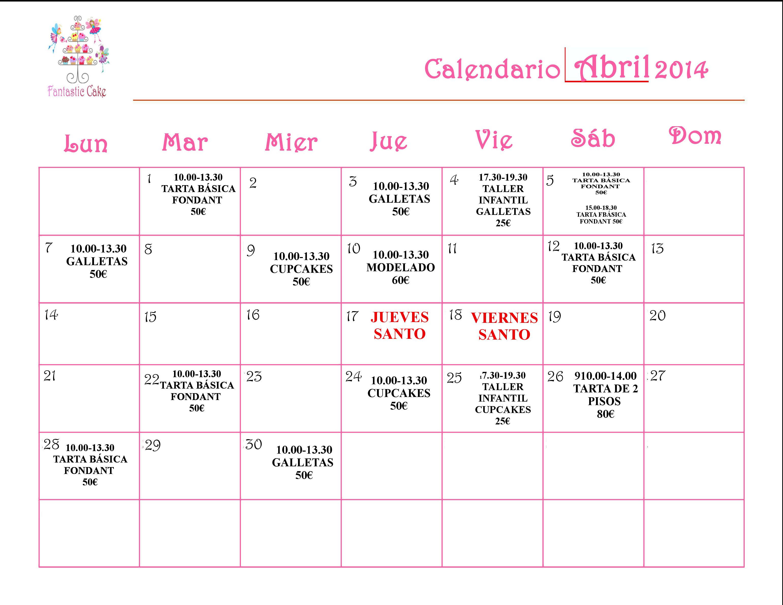 Calendario-FANTASTICCAKE ABRIL
